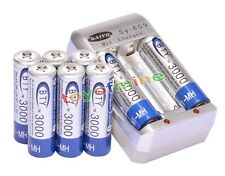 8pcs AA 2A Ni-MH 3000mAh rechargeable battery BTY+AA AAA Battery Charger