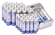 20x AA + 20x AAA 1000mAh 3000mAh 1.2V NI-MH rechargeable battery BTY + Charger