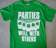 st patrick's day Parties Well with others irish Tee Shirt