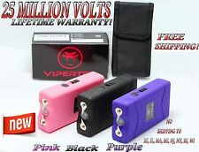 25 Million Volts Self Defence Stun Gun Rechargeable - Free Taser Holster