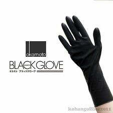 2x Okamoto black gloves Professional Protective 2 Pair For Hair Color Treatment