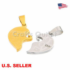 wholesale Stainless Steel Love Hearts Couple Pendants Necklace making Findings