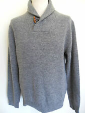 FCUK FRENCH CONNECTION Jumper Shawl Collar/Wrap pullover Knit Grey Size: M & XXL