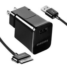 Samsung Galaxy Tab Note Tablet USB Wall Plug Power Charger Data Sync Cable Cord