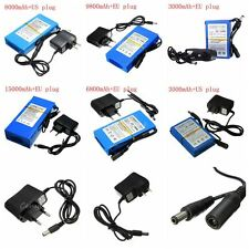 6 Type Durable 3000mAh to 15000mAh DC 12V Rechargeable Super Li-ion Battery+Plug
