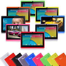 "7"" Quad Core Tablet PC 8GB Android 4.4 HD Dual Camera WiFi 3D Game Refurbished"
