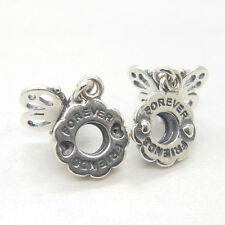 a pair ! SILVER FRIENDS FOREVER DANGLE CHARM