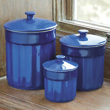 CHEFS Stoneware Kitchen Canister Set, 3 pieces
