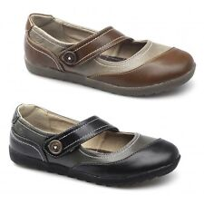 Natrelle MAPLE Ladies Womens Casual Comfy Velcro Flat Summer Mary Jane Shoes New