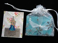 FROZEN NECKLACE PARTY BAG FILLERS. ANNA*ELSA*OLAF. GIFT WRAPPED & SNOWFLAKE BAG