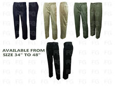 New Men,s smart work pants Elasticated Waist Casual Rugby Trousers