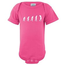 Evolution of Woman To Golfer Baby Girl One Piece Infant Golf Creeper FREE S&H!
