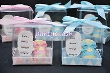 (1) Baby Shower Party Favor Boy Girl Personalize Shoe Pink Blue Gift