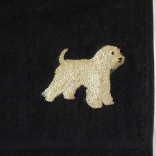 Wheaten Terrier  Dog Embroidered Towels, personalise, Dog Gift, Embroidery