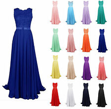Chiffon Sexy Long Bridesmaid Formal Gown Ball Party Cocktail Evening Prom Dress