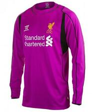 Liverpool Warrior genuine childrens home purple goalkeeper football shirt 14-15