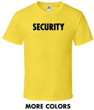 Security Guard t-shirt work law job band event staff service bouncer costume tee