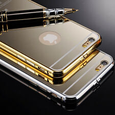 NEW Luxury Aluminum Ultra-thin Mirror Metal Case Cover for iPhone 5 5S 6 Plus