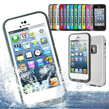 Waterproof Dirtproof Shockproof Heavy Duyt Hard Case Cover for Apple iPhone 5 5S