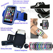 Sports Running Jogging Cycling Arm Band Pouch Fitness Holder Case Cover For HTC