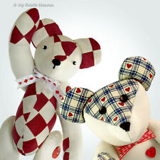 Fabric Teddy Memory Bear Soft Toy Sewing PATTERN With Easy Instructions Unique
