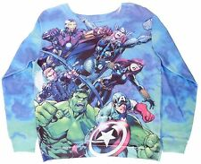 Original Marvel Comics Avengers Women's Sweater Sweatshirt Pullover M L XL - NWT