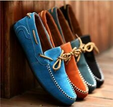 British Men's Sueded Leather Lace Flat Casual Shoes