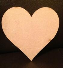 3mm MDF Wooden Heart wood Craft Shape 30mm to 100mm / 3cm - 10cm