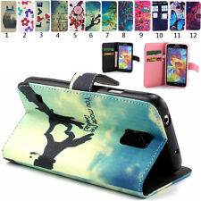 Folio Flip PU Leather Wallet Rubber Case Cover Stand For Various Smart Phone