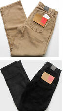 """SONNETI Jeans Men's Cord Jean Button Fly Comfort Fit Black Taupe W 28"""", 30"""""""