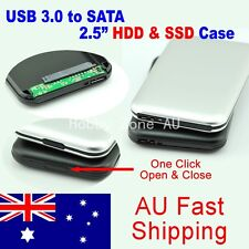 "Aluminum USB 3.0 Hard Drive 2.5"" SATA HDD SSD External Slim Enclosure Case"