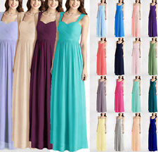 Full Length Bridesmaid Evening Formal Party Ball Gown Prom Chiffon Size 6+++++18