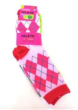 Women's Crew Cut Argyle Fashion Socks One Size Fits Most