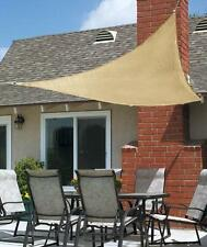 New 10Ft Triangle Sun Block Shade Sail UV Canopy Awning Patio Deck Porch Pool