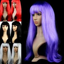 Women Long Straight Wigs Hair Cosplay Party Wigs Stylish Bangs Hot Sexy 13 Color
