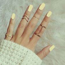 1 Set Fashion Personality Leaf Knuckle Midi Mid Finger Tip Stacking Chain Rings