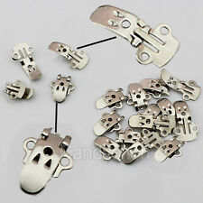 50/100 Pcs Blank Stainless Steel Shoes Flower Clips On Findings Decoration Craft