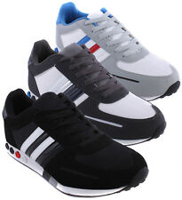 Mens LA Trainers Sports Running Lightweight Gym Casual Lace Up Walking Shoes