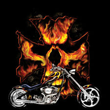 Iron Cross Skull Motorcycle Chopper Biker T-Shirt Tee