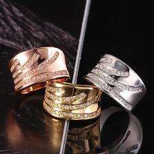 Women's Fashion 10K Whtie Gold Filled AAA Zircon Ring Mother's day gift GFR003