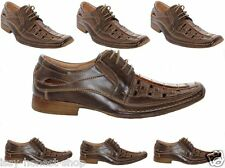 New Mens Smart Formal Casual Eco Leather Lace up Spring Summer Shoes All Sizes