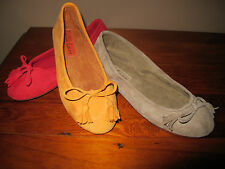 Womens Flats Ballet Suede Leather Upper and leather Sole Beliss Fashions