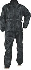 LADIES MOTORCYCLE MOTORBIKE NYLON RAIN SUIT GEAR LIGHT WEIGHT BLACK COLOR NEW