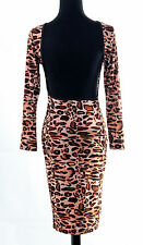 Vogue Backless Bodycon Party leopard print Party Cocktail Evening Slim Dress