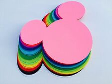 """10 pc Mickey Mouse Head Die-Cuts: 7"""""""