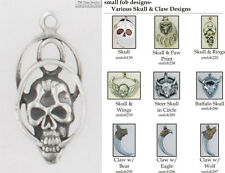 Skull & Claw fobs, various designs & watch chain options