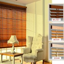 PVC Venetian Window Blinds Easy Fit Multiple Size Beech Cedar Walnut 160 cm Drop