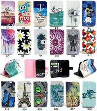 Magnetic Wallet Flip Printed Book Style PU Leather Stand Case Cover For Samsung