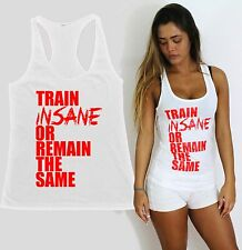 TRAIN INSANE REMAIN SAME women gym clothes fitness apparel workout tank squat