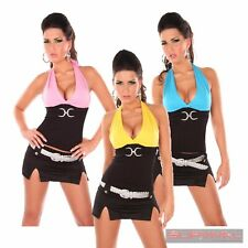 Womens NEW Sleeveless Halter Neck Casual Top Size 8-10 Party Club Wear Hot Sexy